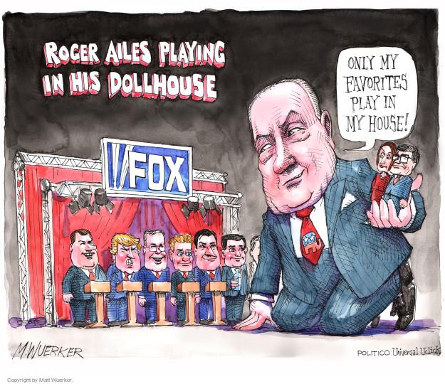 Matt Wuerker  Matt Wuerker's Editorial Cartoons 2015-08-05 Donald Trump Fox News