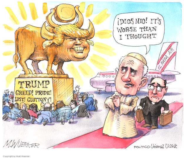 Cartoonist Matt Wuerker  Matt Wuerker's Editorial Cartoons 2015-09-21 christianity