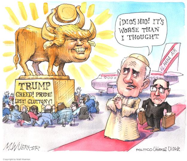 Cartoonist Matt Wuerker  Matt Wuerker's Editorial Cartoons 2015-09-21 religion