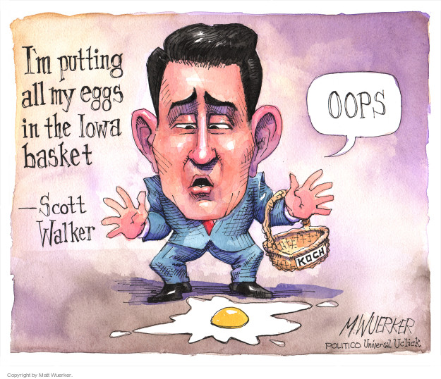 Matt Wuerker  Matt Wuerker's Editorial Cartoons 2015-09-22 Scott Walker