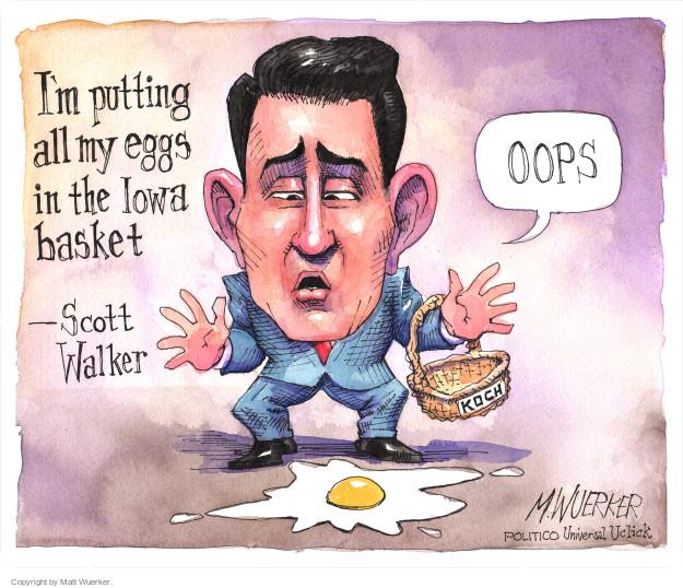 Matt Wuerker  Matt Wuerker's Editorial Cartoons 2015-09-22 2016 election Scott Walker