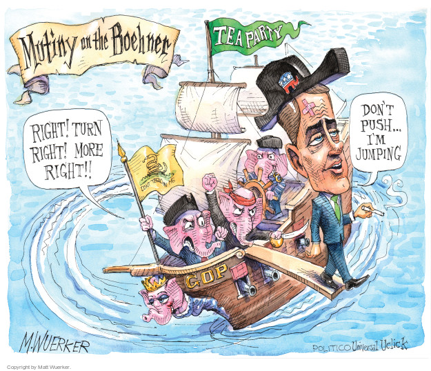 Cartoonist Matt Wuerker  Matt Wuerker's Editorial Cartoons 2015-09-30 tea party