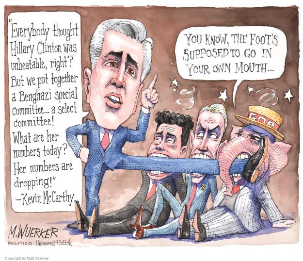 Cartoonist Matt Wuerker  Matt Wuerker's Editorial Cartoons 2015-10-05 Kevin McCarthy