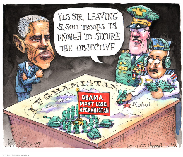 Cartoonist Matt Wuerker  Matt Wuerker's Editorial Cartoons 2015-10-19 Obama Afghanistan
