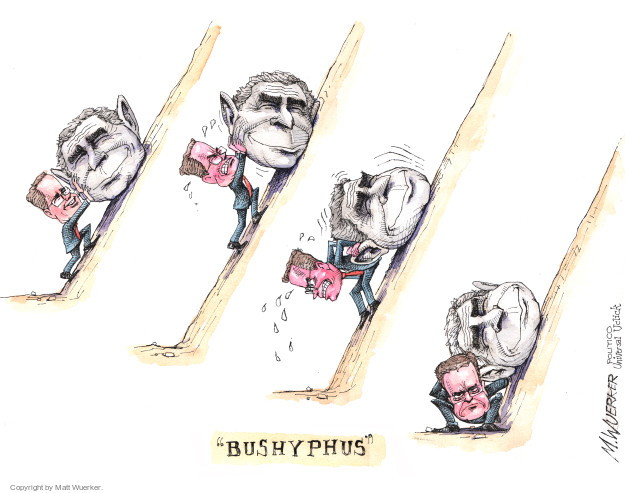 Cartoonist Matt Wuerker  Matt Wuerker's Editorial Cartoons 2015-11-04 George W. Bush