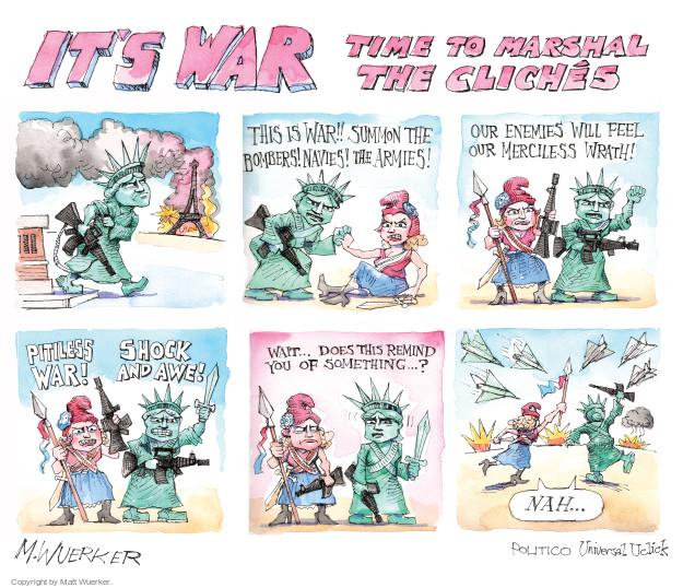 Matt Wuerker  Matt Wuerker's Editorial Cartoons 2015-11-17 Iraq war