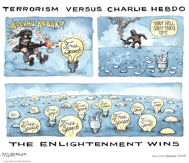 Matt Wuerker  Matt Wuerker's Editorial Cartoons 2016-01-06 freedom of speech