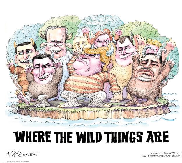 Cartoonist Matt Wuerker  Matt Wuerker's Editorial Cartoons 2016-01-08 2016 election Jeb Bush
