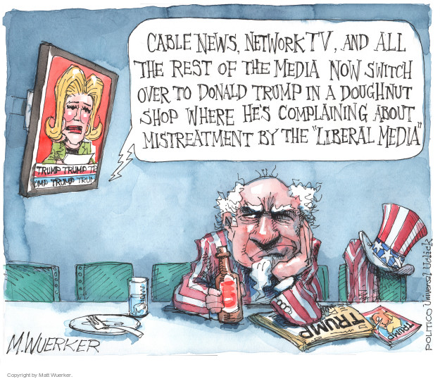 Cartoonist Matt Wuerker  Matt Wuerker's Editorial Cartoons 2016-01-29 television news