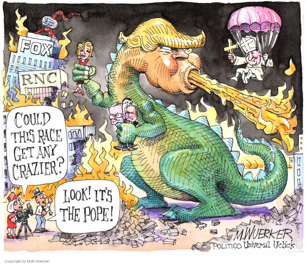 Cartoonist Matt Wuerker  Matt Wuerker's Editorial Cartoons 2016-02-19 crazy