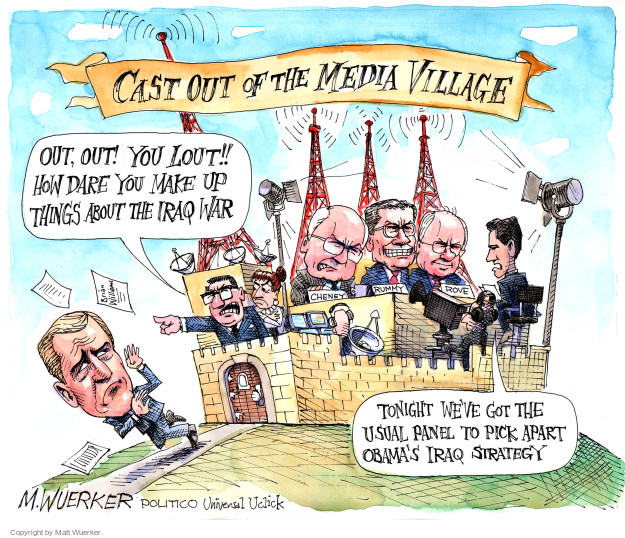 Cartoonist Matt Wuerker  Matt Wuerker's Editorial Cartoons 2015-02-10 Cheney Obama