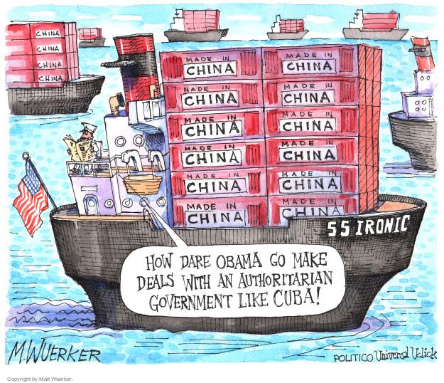 Matt Wuerker  Matt Wuerker's Editorial Cartoons 2016-03-22 Cuba