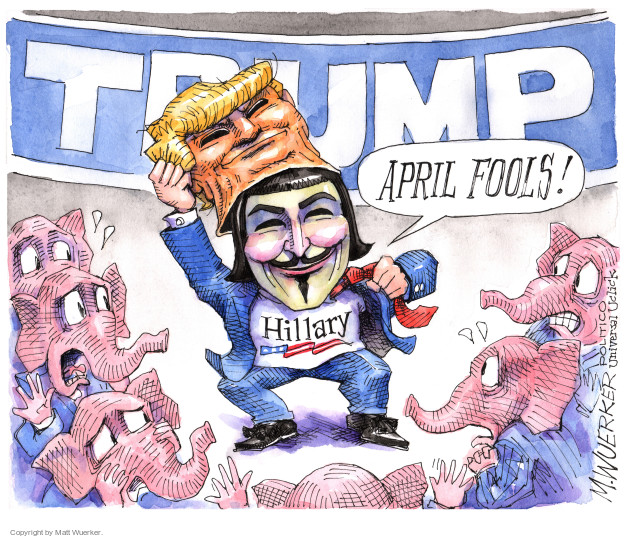 Matt Wuerker  Matt Wuerker's Editorial Cartoons 2016-04-01 deception