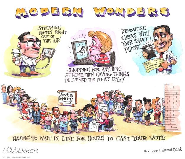 Matt Wuerker  Matt Wuerker's Editorial Cartoons 2016-04-20 voting line