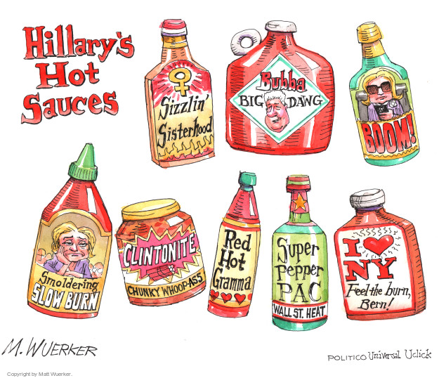 Matt Wuerker  Matt Wuerker's Editorial Cartoons 2016-04-21 Bernie Sanders