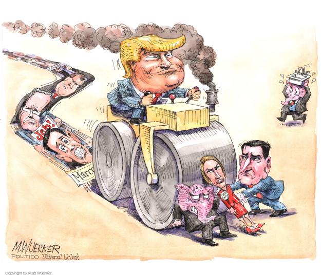 Matt Wuerker  Matt Wuerker's Editorial Cartoons 2016-04-29 2016 election Jeb Bush