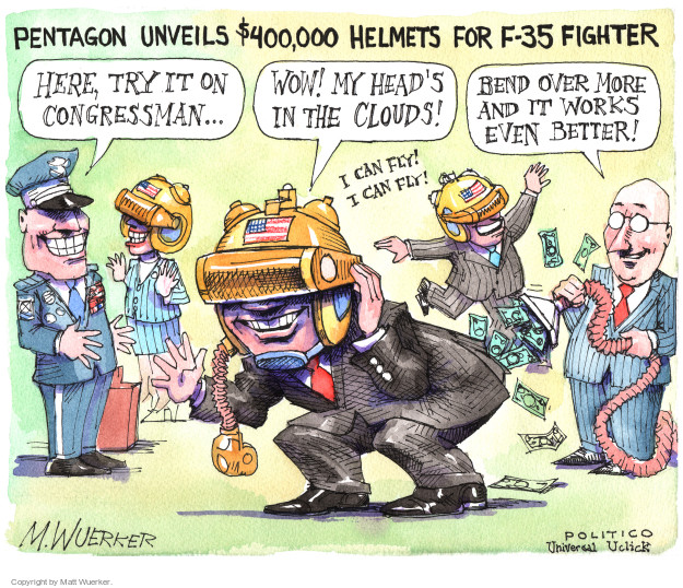 Cartoonist Matt Wuerker  Matt Wuerker's Editorial Cartoons 2016-06-01 expense
