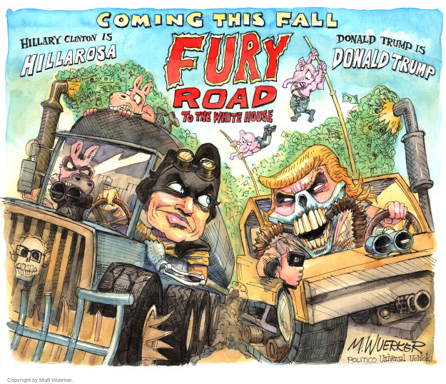 Matt Wuerker  Matt Wuerker's Editorial Cartoons 2016-06-08 Bernie Sanders