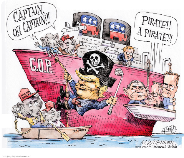 Cartoonist Matt Wuerker  Matt Wuerker's Editorial Cartoons 2016-07-20 republican party