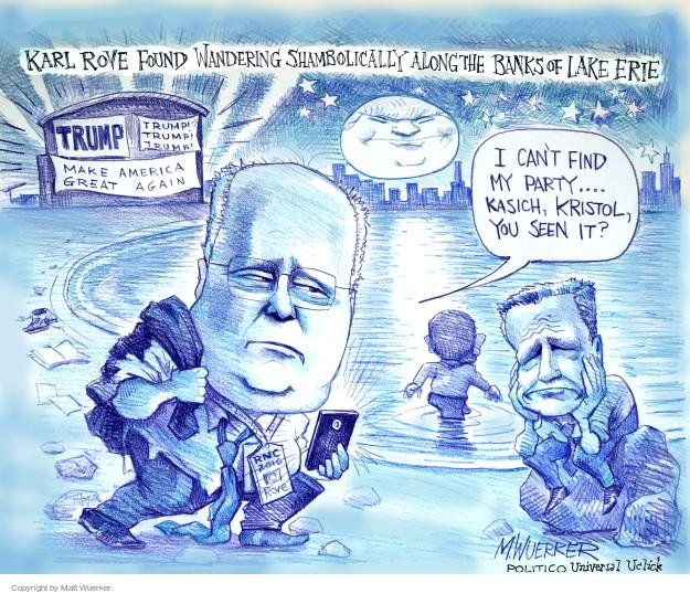 Cartoonist Matt Wuerker  Matt Wuerker's Editorial Cartoons 2016-07-21 republican party