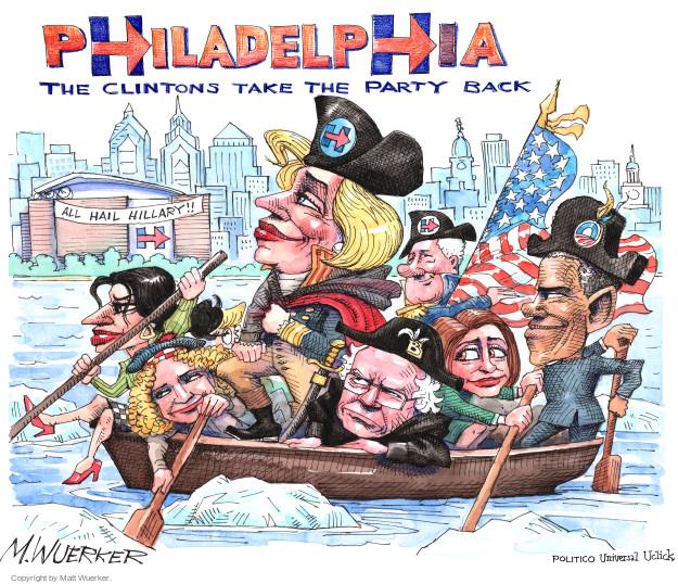 Cartoonist Matt Wuerker  Matt Wuerker's Editorial Cartoons 2016-07-25 2016 election