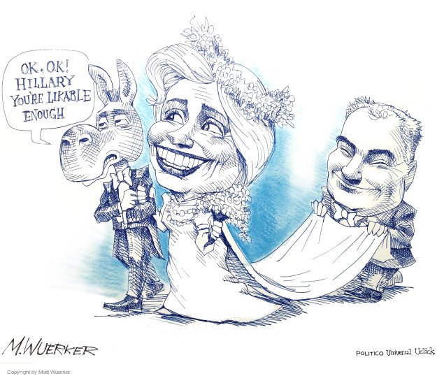 Cartoonist Matt Wuerker  Matt Wuerker's Editorial Cartoons 2016-07-26 Hillary Clinton