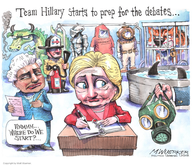 Cartoonist Matt Wuerker  Matt Wuerker's Editorial Cartoons 2016-08-23 Secretary of State