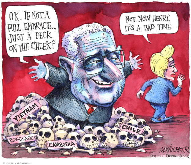 Cartoonist Matt Wuerker  Matt Wuerker's Editorial Cartoons 2016-09-05 Henry Kissinger