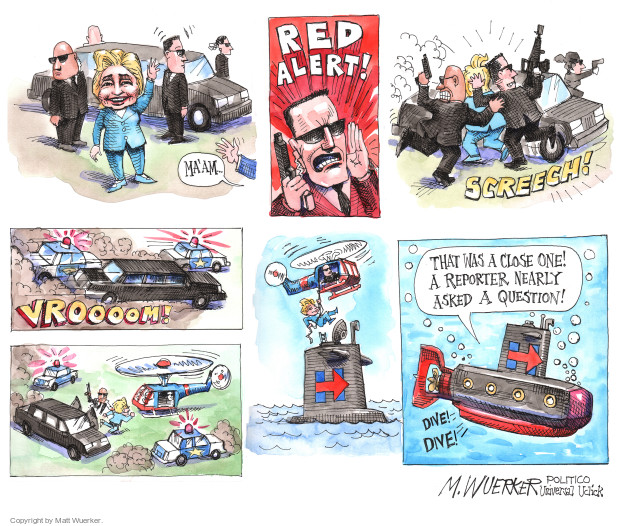 Cartoonist Matt Wuerker  Matt Wuerker's Editorial Cartoons 2016-09-06 Secretary of State