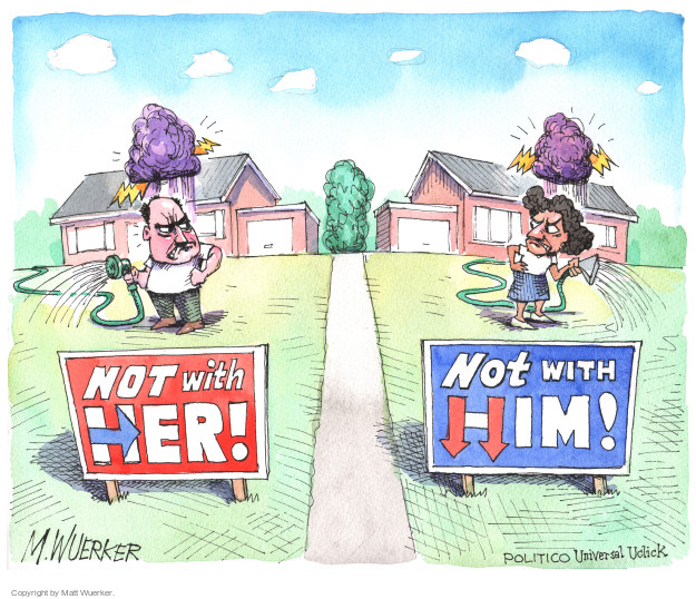 Cartoonist Matt Wuerker  Matt Wuerker's Editorial Cartoons 2016-09-08 Secretary of State