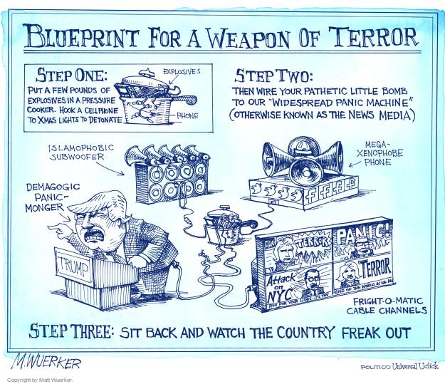 Cartoonist Matt Wuerker  Matt Wuerker's Editorial Cartoons 2016-09-21 terrorism