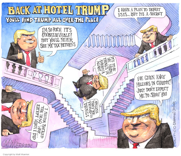 Cartoonist Matt Wuerker  Matt Wuerker's Editorial Cartoons 2016-09-27 republican candidate