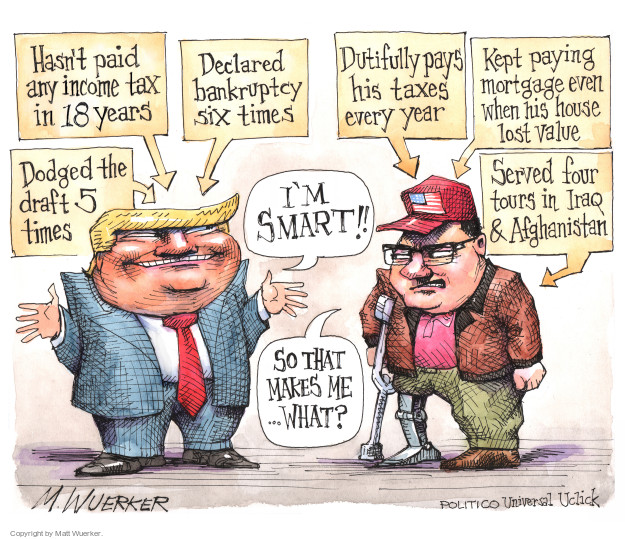 Cartoonist Matt Wuerker  Matt Wuerker's Editorial Cartoons 2016-10-05 military wounded