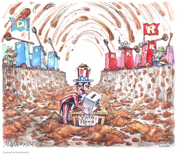 Cartoonist Matt Wuerker  Matt Wuerker's Editorial Cartoons 2016-10-21 republican democrat