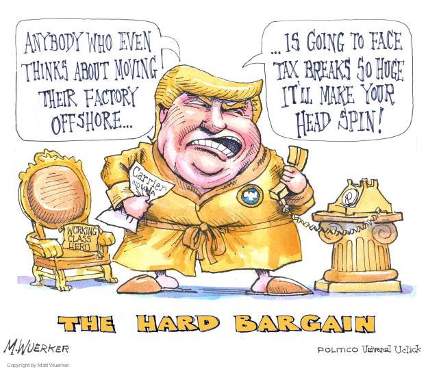 Cartoonist Matt Wuerker  Matt Wuerker's Editorial Cartoons 2016-12-05 tax