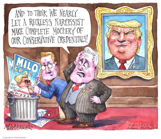 Cartoonist Matt Wuerker  Matt Wuerker's Editorial Cartoons 2017-02-21 president