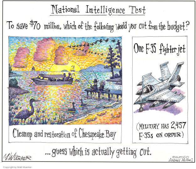 Cartoonist Matt Wuerker  Matt Wuerker's Editorial Cartoons 2017-03-09 federal budget
