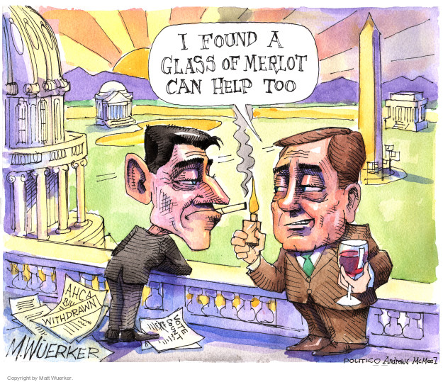 Cartoonist Matt Wuerker  Matt Wuerker's Editorial Cartoons 2017-03-27 congress health care