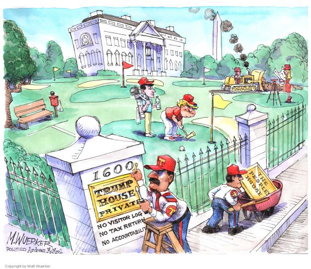 Cartoonist Matt Wuerker  Matt Wuerker's Editorial Cartoons 2017-04-19 government secrecy