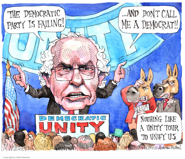 Matt Wuerker  Matt Wuerker's Editorial Cartoons 2017-04-26 Bernie Sanders
