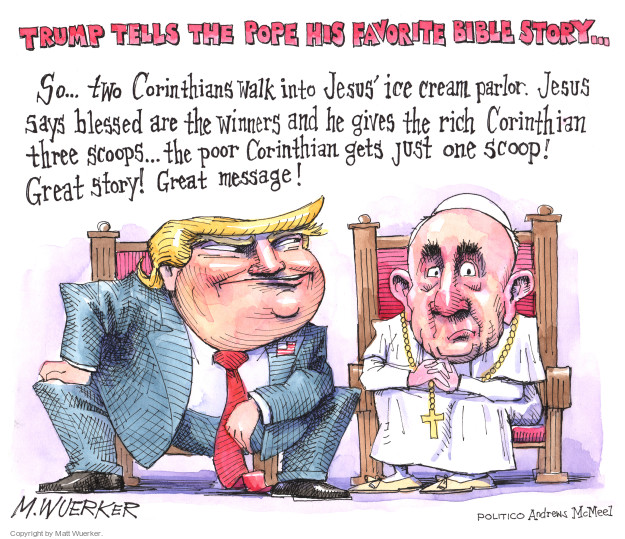 Cartoonist Matt Wuerker  Matt Wuerker's Editorial Cartoons 2017-05-24 christianity