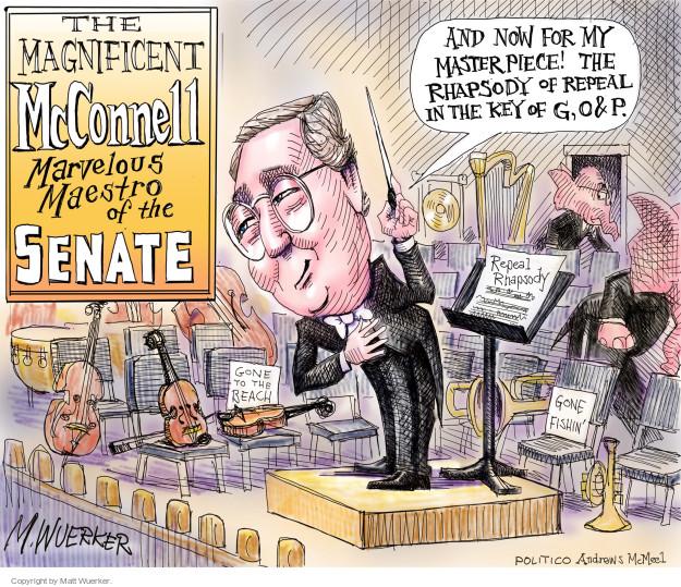 Cartoonist Matt Wuerker  Matt Wuerker's Editorial Cartoons 2017-06-28 senate majority leader
