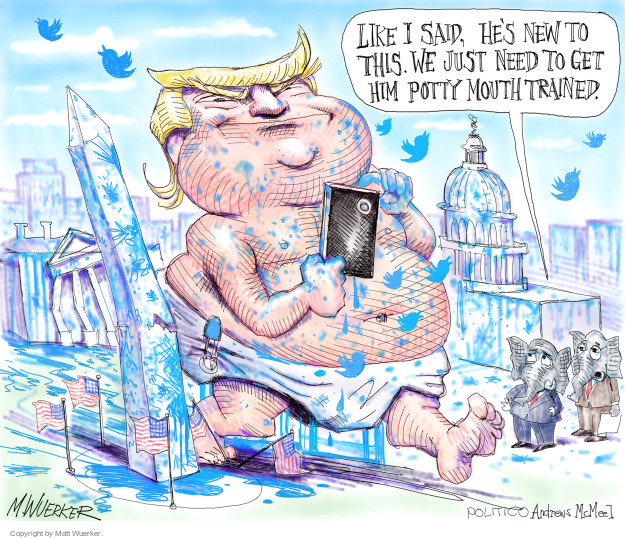 Cartoonist Matt Wuerker  Matt Wuerker's Editorial Cartoons 2017-07-05 president