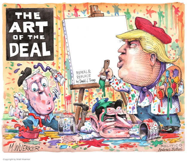 The Art of the Deal. Repeal & Replace by Donald J. Trump. Senate paint. House paint.