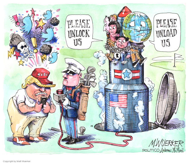 Cartoonist Matt Wuerker  Matt Wuerker's Editorial Cartoons 2017-08-11 international war