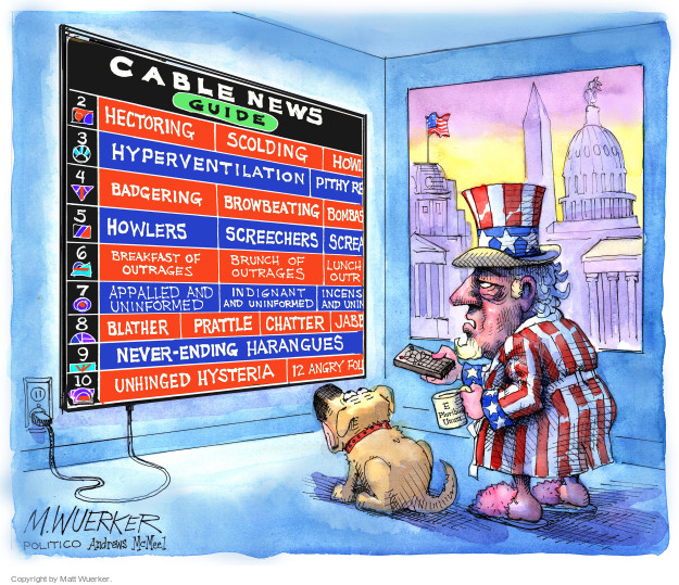 Cartoonist Matt Wuerker  Matt Wuerker's Editorial Cartoons 2017-09-05 television news