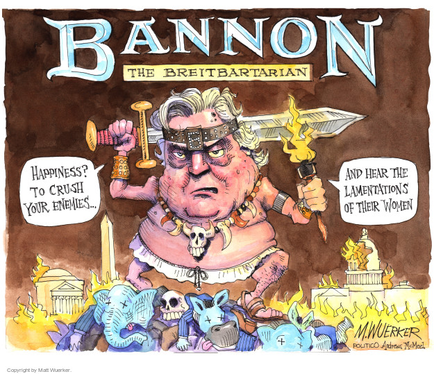 Matt Wuerker  Matt Wuerker's Editorial Cartoons 2017-09-11 Donald Trump Steve Bannon