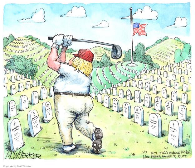 Cartoonist Matt Wuerker  Matt Wuerker's Editorial Cartoons 2017-10-20 military