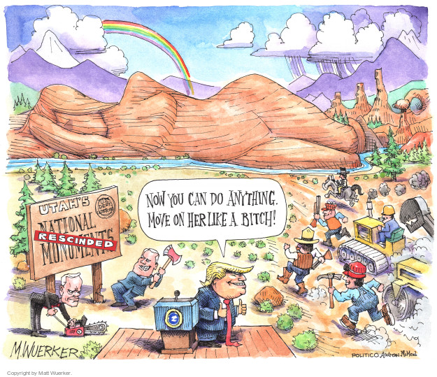 Cartoonist Matt Wuerker  Matt Wuerker's Editorial Cartoons 2017-12-06 conservation