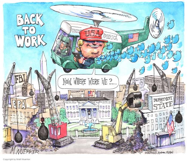 Matt Wuerker  Matt Wuerker's Editorial Cartoons 2018-01-02 destruction